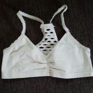 Cream bralette with detailed back Sz.S like new